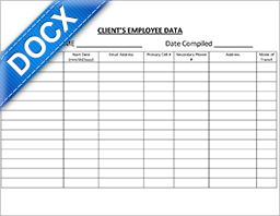 Word Document: CSIL Employee Data