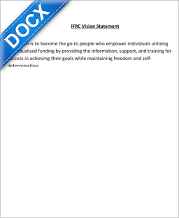 Word Document: IFRC Vision Statement