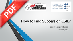 PDF Document: Muscular Dystrophy Webinar Series - How to find Success on CSIL