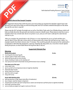 PDF Document: Supported Lifestyle Plan (Sample)